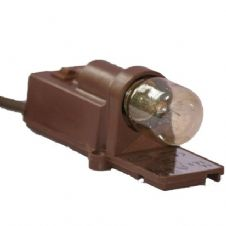 Display Cabinet Cupboard Light Fitting Brown 15w Max Unswitched